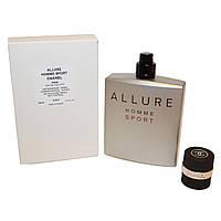 Тестер. Мужская туалетная вода Chanel Allure Homme Sport (Шанель Аллюр Хомм Спорт) 100 мл (без крышечки).