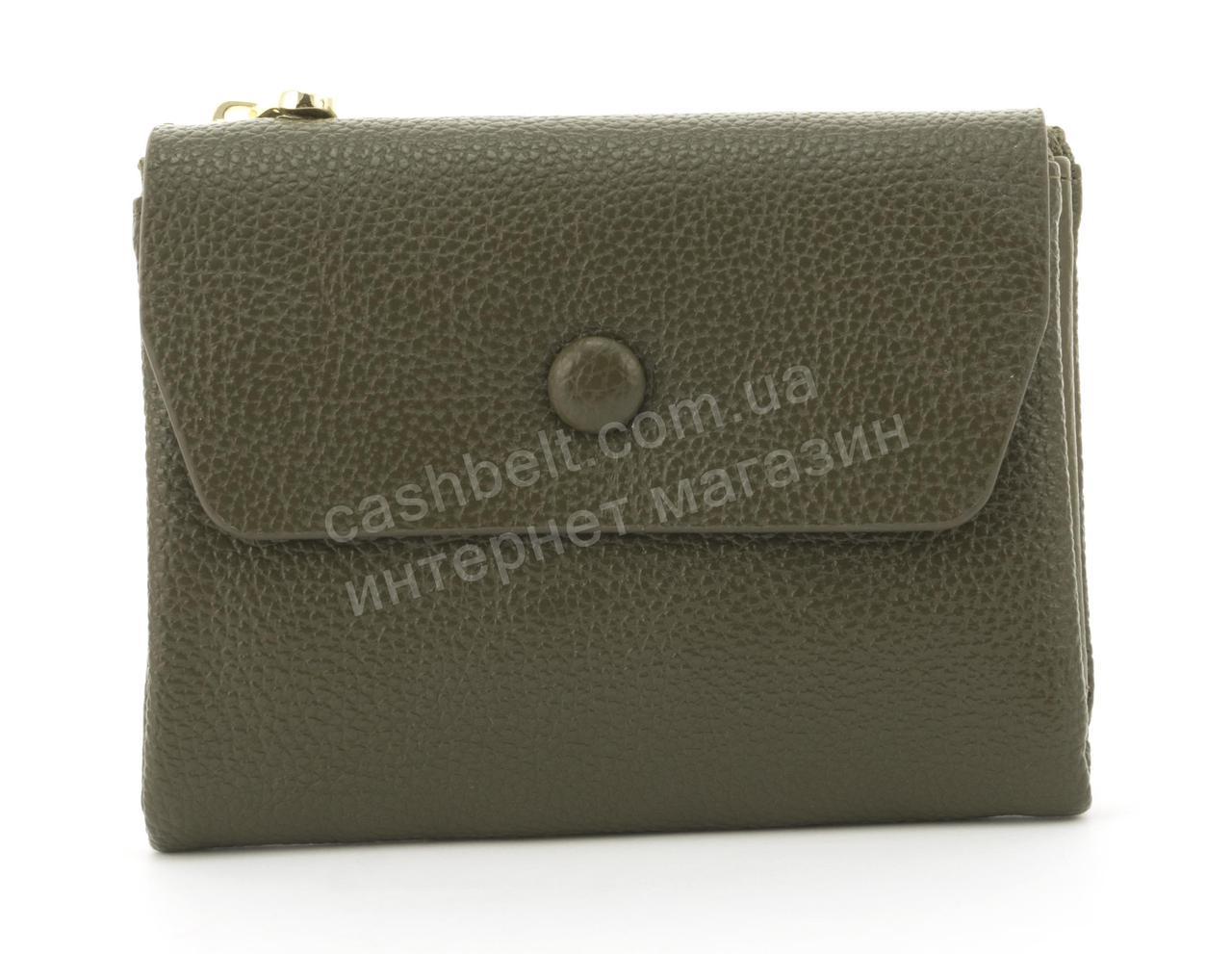 Женский удобный многофункциональный прочный вместительный кошелек SARALYN art.C-7980 зеленый
