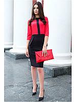 Офисное платье с баской , фото 1
