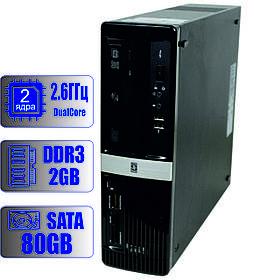 Системный блок HP 2 ядра 2.60 GHz/2Gb-DDR3/HDD-80Gb