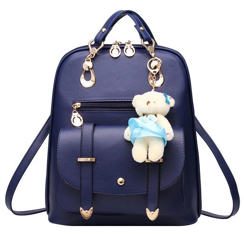 Женский рюкзак Винтаж с мишкой Тедди,Candy Bear Синий