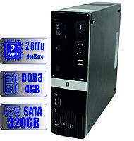 Системный блок HP 2 ядра 2.60 GHz/4Gb-DDR3/HDD-320Gb