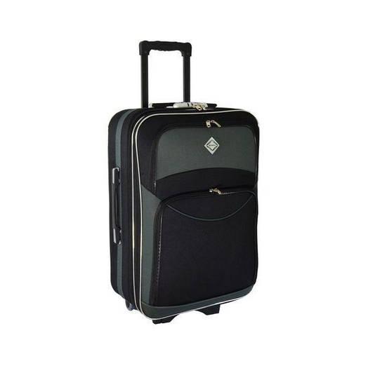 Чемодан сумка дорожный Bonro Style (средний) черно-серый