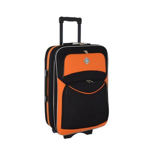 Чемодан сумка дорожный Bonro Style (средний) черно-оранжевый
