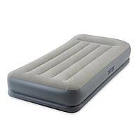 Надувная кровать intex одноместная с электронасосом
