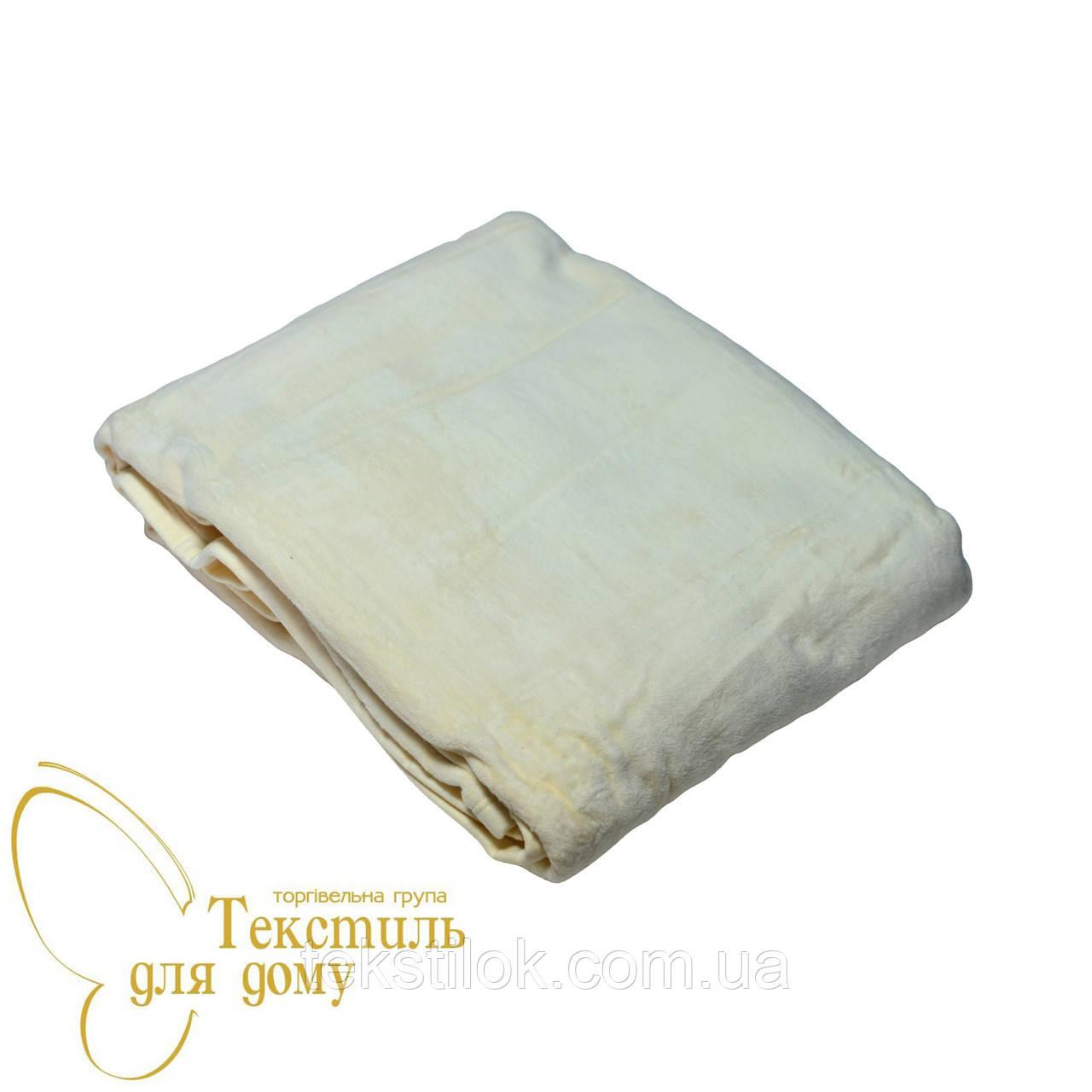 Плед 200*220 однотонный Cotton/Acril Doubl