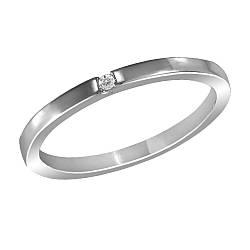 Кольцо из серебра с куб. циркониями K037W