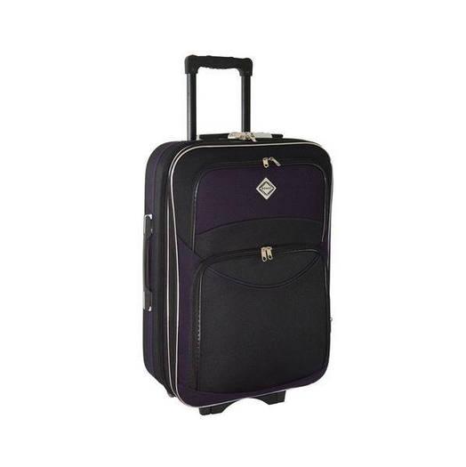 Чемодан сумка дорожный Bonro Style (небольшой) черно-т. фиолетовый