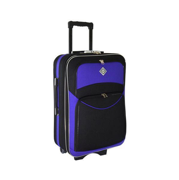 Чемодан сумка дорожный Bonro Style (небольшой) черно-фиолетовый