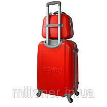 Комплект чемодан + кейс Bonro Smile (небольшой) красный, фото 2