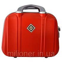 Комплект чемодан + кейс Bonro Smile (небольшой) красный, фото 3