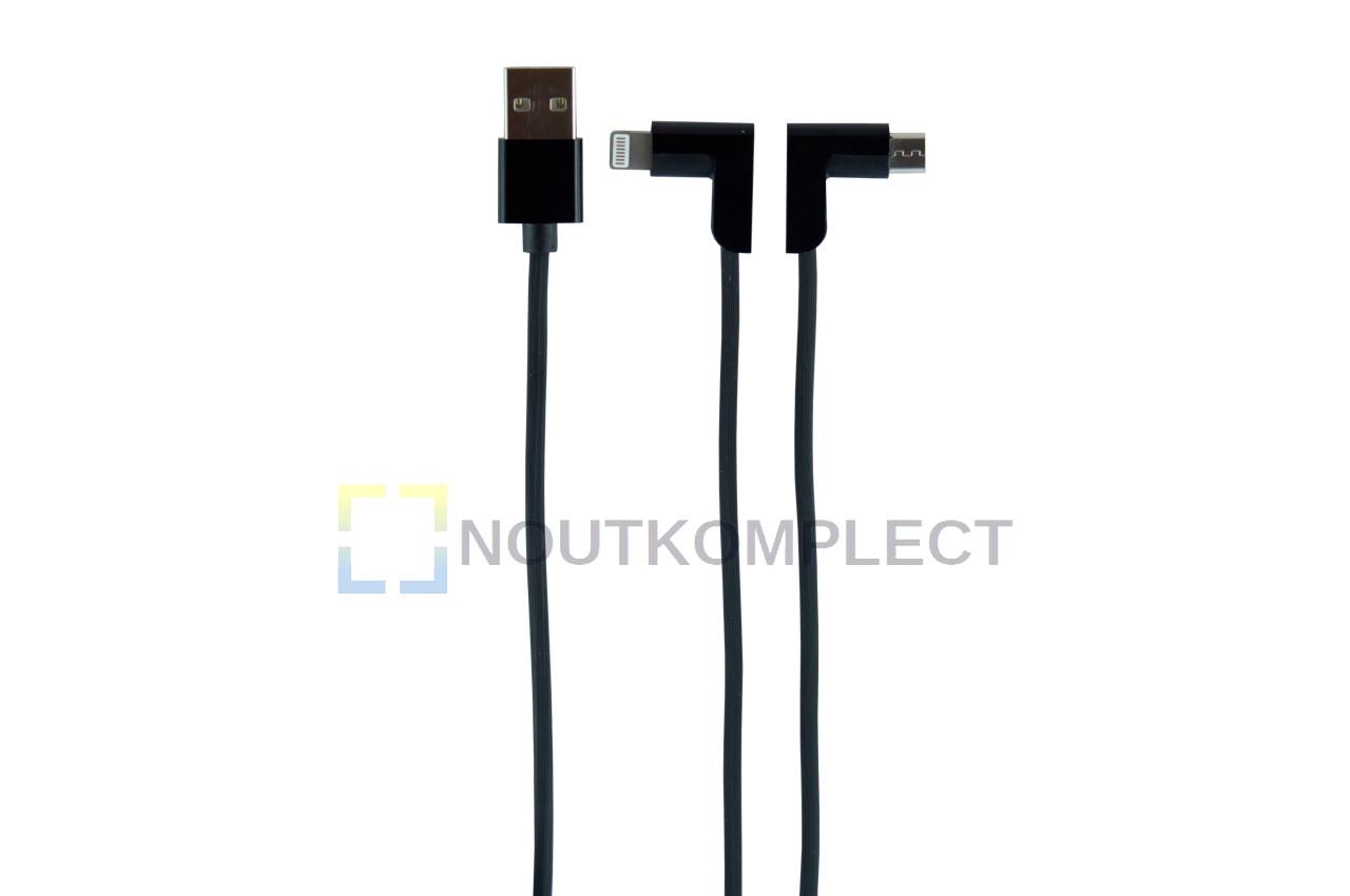 Кабель Lightning+Micro-USB Hoco - X12 1,2 м Black