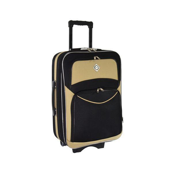 Чемодан сумка дорожный Bonro Style (небольшой) черно-кремовый