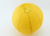 Шар плиссе декоративный подвесной  35  см. желтый, фото 1