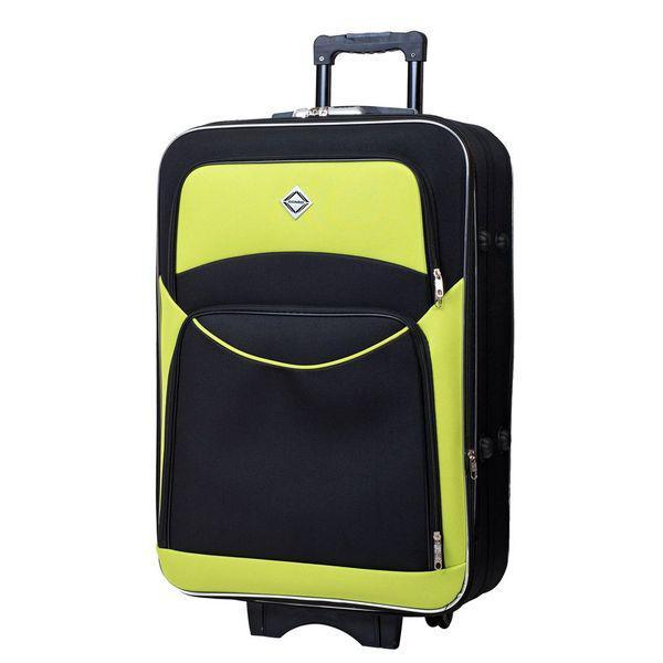Чемодан сумка дорожный Bonro Style (небольшой) черно-салатовый
