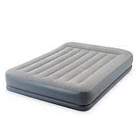 Надувная кровать intex двуспальная с электронасосом