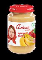 """Пюре Фруктове, ТМ""""Оленка любить"""", Яблуко і Банан, 170г, від 6 міс."""