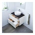 Шкаф для раковины IKEA GODMORGON / TOLKEN / TÖRNVIKEN 82x49x74 см с 2 ящиками глянец белый антрацит 291.878.65, фото 2