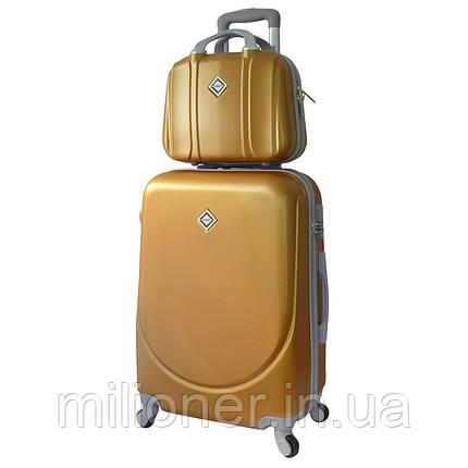 Комплект чемодан + кейс Bonro Smile (небольшой) золотой, фото 2
