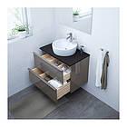 Шкаф для раковины IKEA GODMORGON / TOLKEN / TÖRNVIKEN 82x49x74 см с 2 ящиками глянец серый антрацит 391.878.98, фото 2
