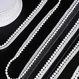 Текстильная тесьма шириной 12 мм с маленькими помпонами по краю, цвет белый, фото 2