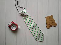 Детский галстук для мальчиков и девочек белого цвета