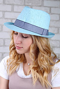 Шляпа челентанка Валаам голубая