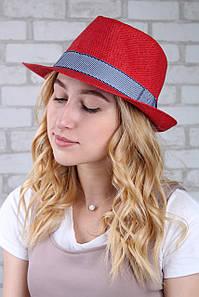 Шляпа челентанка Валаам красная
