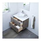 Шкаф для раковины IKEA GODMORGON / TOLKEN / TÖRNVIKEN 82x49x74 см с 2 ящиками глянцевый серый белый 991.878.95, фото 2