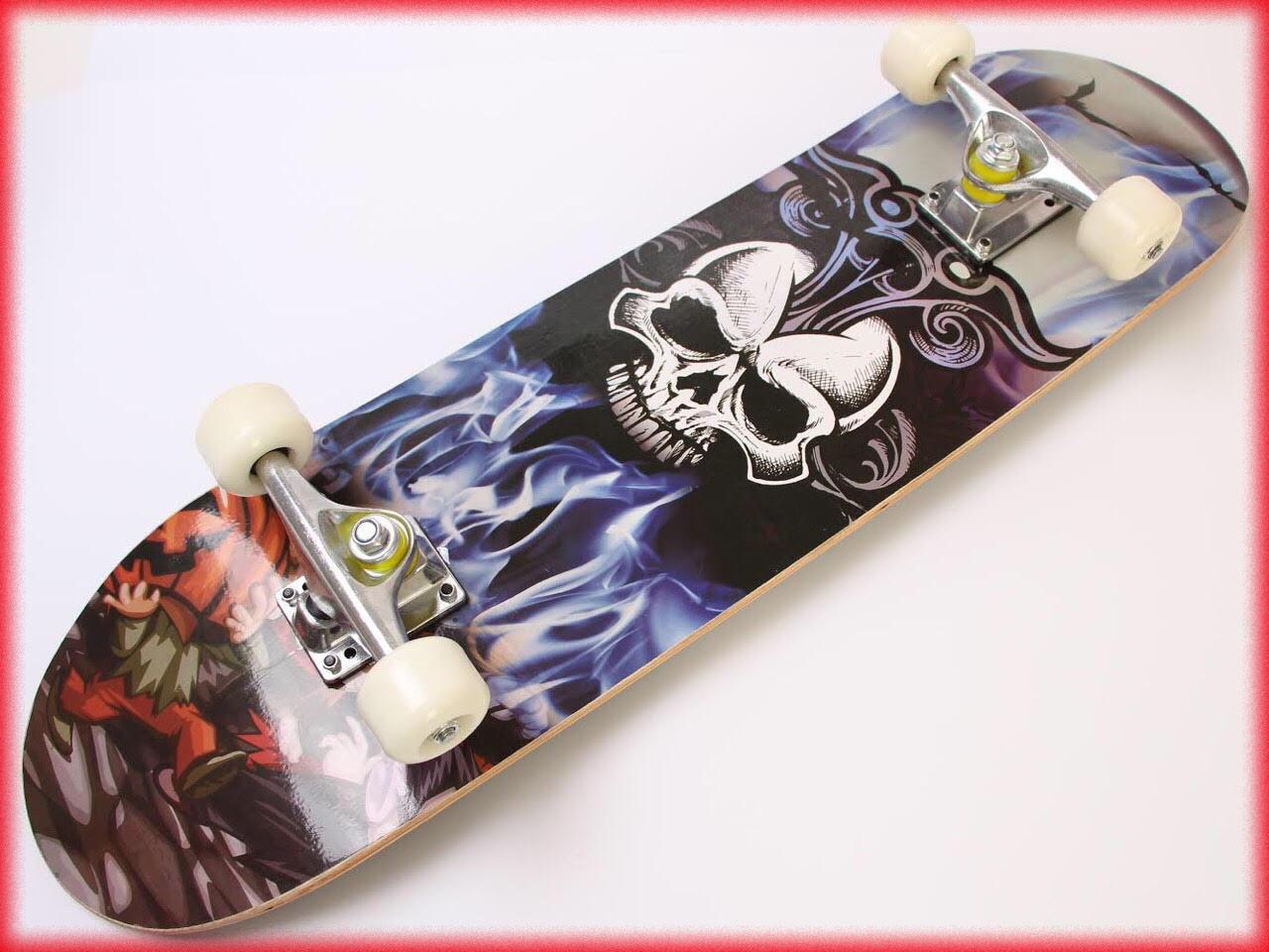 "Скейтборд граффити канадский клен ""Skull"" с граффити"