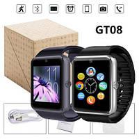 Умные часы Smart Watch GT08 с SIM 3 цвета ГТ08 ЧЕРНЫЙ, СЕРЫЙ, ЗОЛОТО в Коробке смарт вач dz09 IOS и OC Android