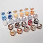 Набор раскраска по номерам Щенки и бурундучок 2 (KH4055) Идейка 40 х 50 см, фото 4