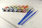 Набор раскраска по номерам Щенки и бурундучок 2 (KH4055) Идейка 40 х 50 см, фото 2