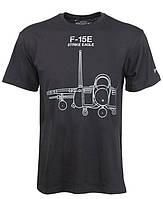 Оригинальная футболка Boeing F-15E Strike Eagle Midnight Silver T-Shirt 1100100109650001 (Black)