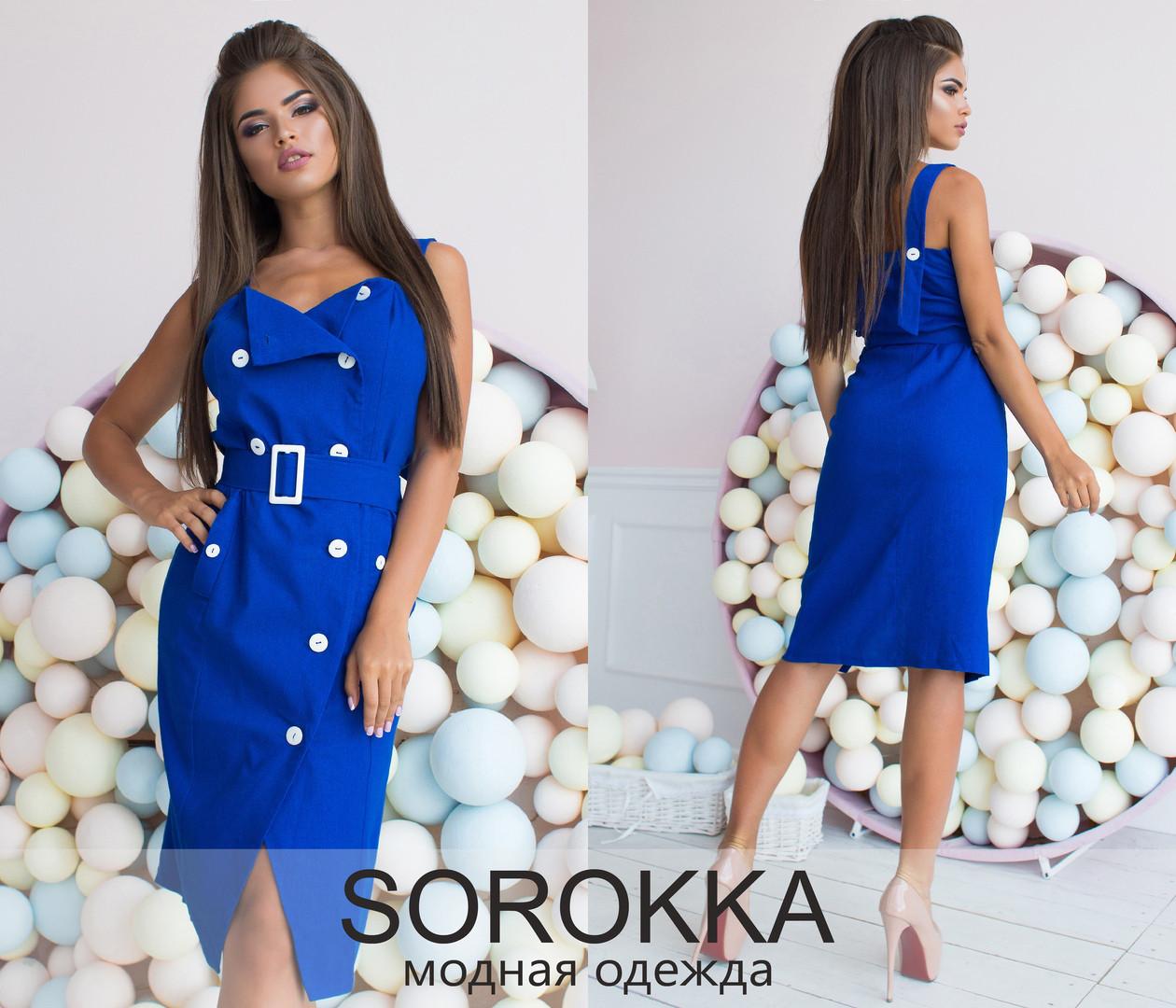 315315ab223 Облегающее льняное платье на бретельках Производитель Украина купить  недорого в интернет магазине р.42-