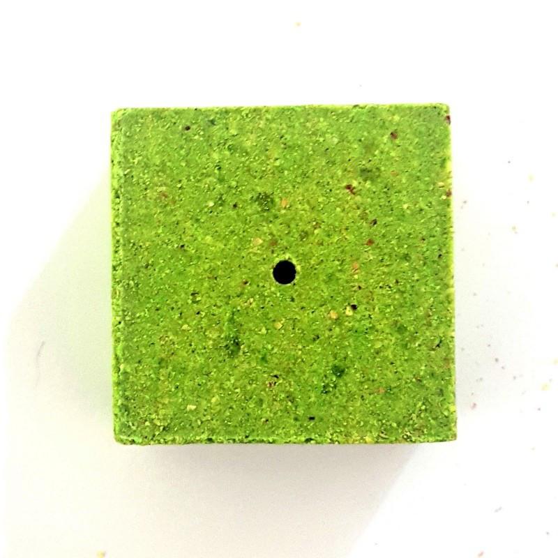 Кубик экструдированный для макушатника с отверстием 45х45х20 мм, Анис