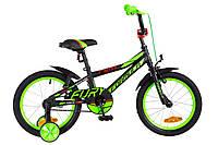 """Детский велосипед Formula Fury 16"""" черно-зеленый"""
