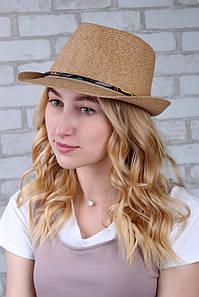 Шляпа челентанка Панама капучиновая