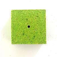Кубик для макушатника с отверстием экструдированный 45х45х20 мм, Горох