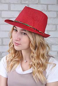 Шляпа челентанка Панама красная