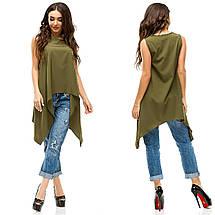"Асимметричная летняя женская блуза ""LITON"" без рукавов (6 цветов), фото 3"