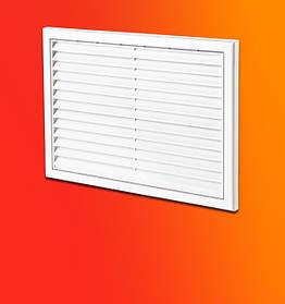 Декоративная решетка для радиаторов отопления под гипсокартон из металла. Горизонтальные жалюзи.