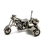 Техно-арт статуэтка Байк с мотоколяской, (15х10х10см)