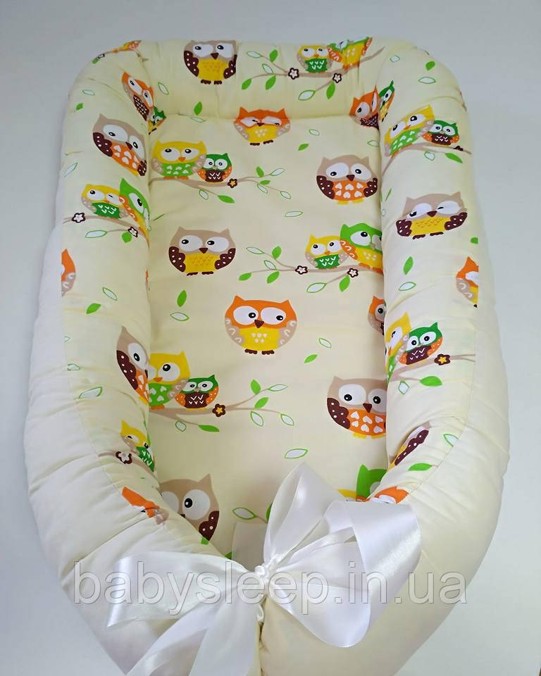 Гнездышко со сьемным матрасиком, кокон для новорожденного Baby-Sleep