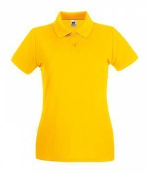 Женская футболка Поло хлопок 030-34-В477  fruit of the loom
