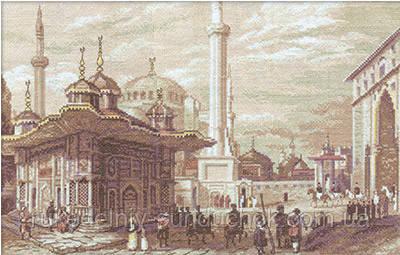 Набор для вышивания крестом Panna GM-1292 Стамбул. Фонтан султана Ахмета