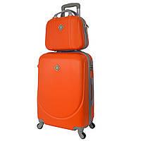 Комплект чемодан + кейс Bonro Smile (небольшой) оранжевый