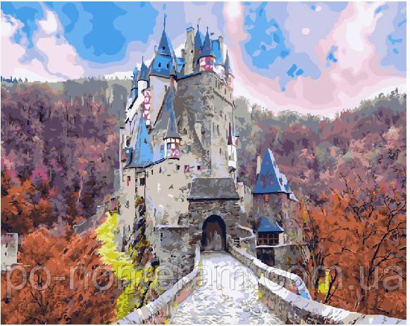 Раскраска для взрослых Сказочный замок (BRM21904) 40 х 50 ...
