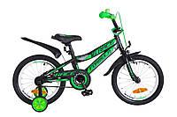 """Детский велосипед Formula Race 16"""" черно-зеленый"""