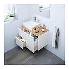 Шкаф с раковиной IKEA GODMORGON / TOLKEN / TÖRNVIKEN 82x49x72 см с 3 ящиками глянец белый бамбук 791.911.72, фото 2